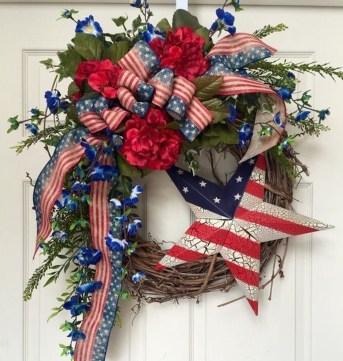 Pratiotic Handmade 4th Of July Wreath Ideas 08