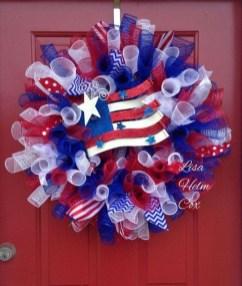 Pratiotic Handmade 4th Of July Wreath Ideas 22