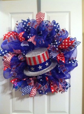 Pratiotic Handmade 4th Of July Wreath Ideas 26