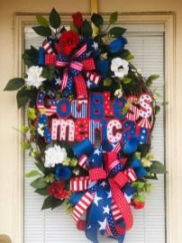 Pratiotic Handmade 4th Of July Wreath Ideas 28