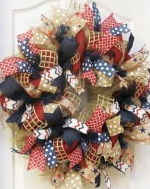Pratiotic Handmade 4th Of July Wreath Ideas 31