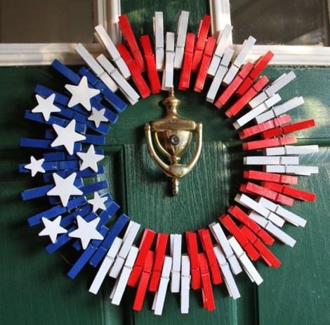Pratiotic Handmade 4th Of July Wreath Ideas 47