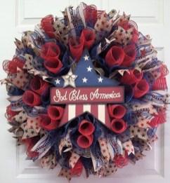 Pratiotic Handmade 4th Of July Wreath Ideas 50
