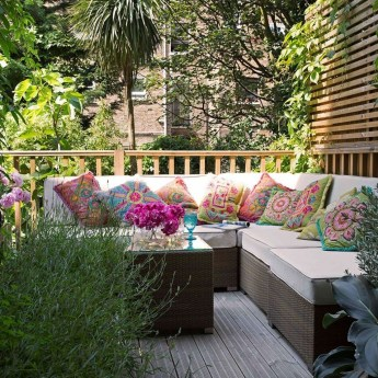 Stunning Balcony Decoration Ideas With Seating Areas 48