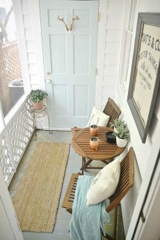 Stunning Balcony Decoration Ideas With Seating Areas 49