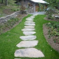 Awesome Small Garden Ideas With Stone Path 05