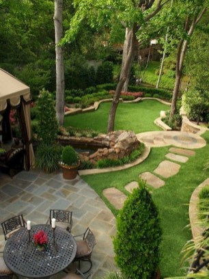 Awesome Small Garden Ideas With Stone Path 08