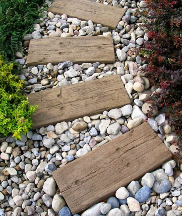 Awesome Small Garden Ideas With Stone Path 29