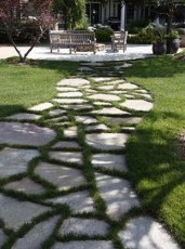 Awesome Small Garden Ideas With Stone Path 30