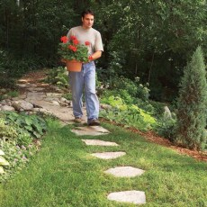 Awesome Small Garden Ideas With Stone Path 34