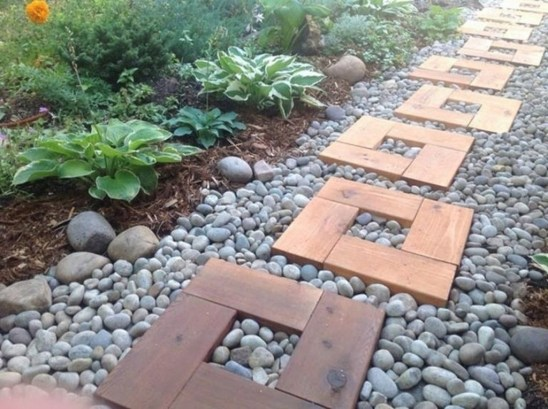Awesome Small Garden Ideas With Stone Path 35