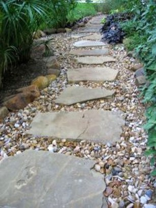 Awesome Small Garden Ideas With Stone Path 37