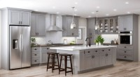Easy Grey Kitchen Cabinets Ideas For Your Kitchen 39