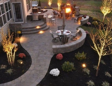 Inspiring Backyard Patio Design Ideas With Beautiful Landscaping 32