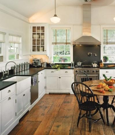 Stunning Wood Floor Ideas To Beautify Your Kitchen Room 23