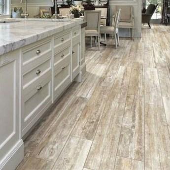 Stunning Wood Floor Ideas To Beautify Your Kitchen Room 28