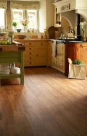Stunning Wood Floor Ideas To Beautify Your Kitchen Room 31