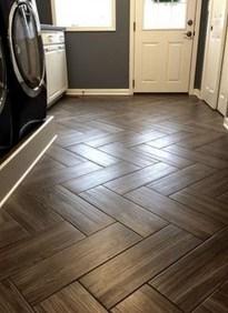 Stunning Wood Floor Ideas To Beautify Your Kitchen Room 33