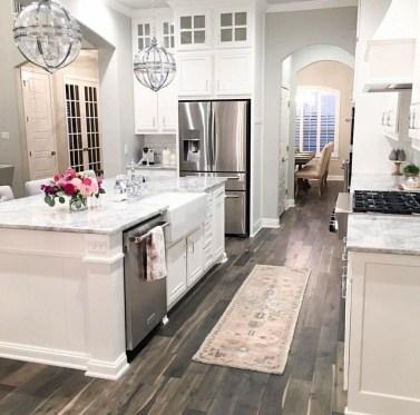 Stunning Wood Floor Ideas To Beautify Your Kitchen Room 39