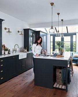 Stunning Wood Floor Ideas To Beautify Your Kitchen Room 45