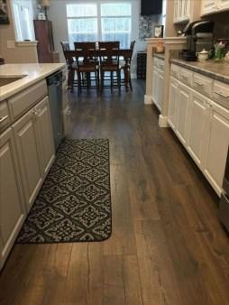 Stunning Wood Floor Ideas To Beautify Your Kitchen Room 47