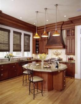 Stunning Wood Floor Ideas To Beautify Your Kitchen Room 48