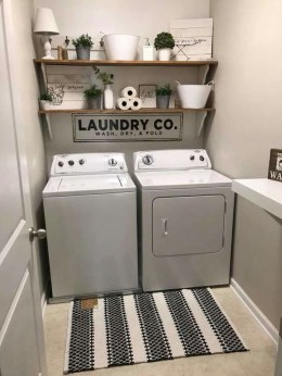 Wonderful Laundry Room Decorating Ideas For Small Space 24