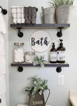 Amazing Bathroom Decor Ideas With Farmhouse Style 36