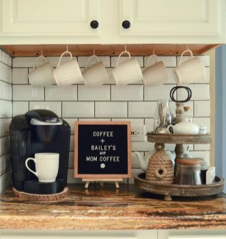 Fantastic DIY Coffee Bar Ideas For Your Home 18