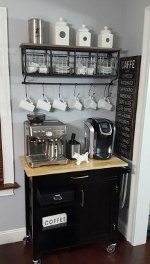 Fantastic DIY Coffee Bar Ideas For Your Home 26