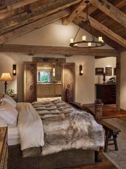 Modern Rustic Master Bedroom Design Ideas 28