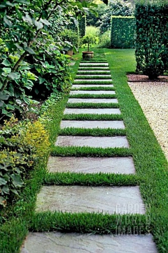 Newest Stepping Stone Pathway Ideas For Your Garden 26