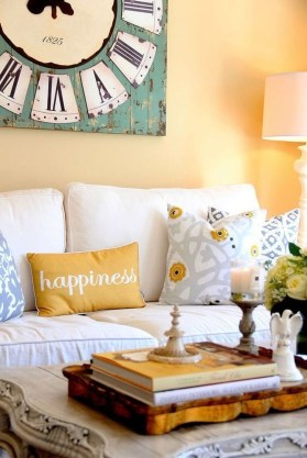 Adorable Colorful Pillow Ideas For Cozy Living Room 42