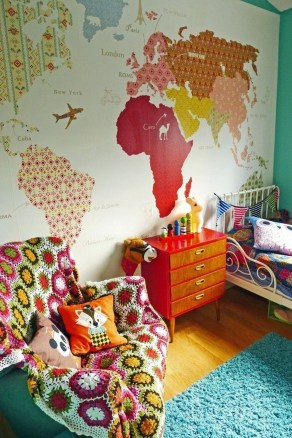 Awesome Child's Room Ideas With Wall Decoration 34
