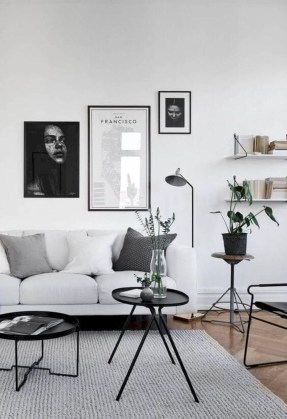Cute Monochrome Living Room Decoration You Must Have 17
