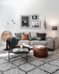 Cute Monochrome Living Room Decoration You Must Have 20