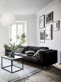 Cute Monochrome Living Room Decoration You Must Have 21