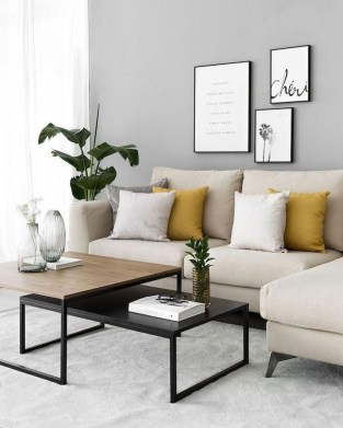 Cute Monochrome Living Room Decoration You Must Have 25