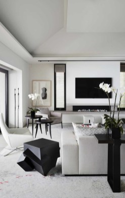Cute Monochrome Living Room Decoration You Must Have 27