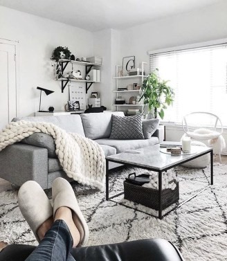 Cute Monochrome Living Room Decoration You Must Have 36