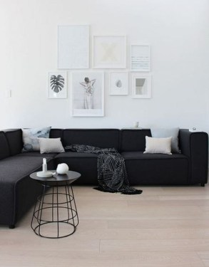 Cute Monochrome Living Room Decoration You Must Have 50