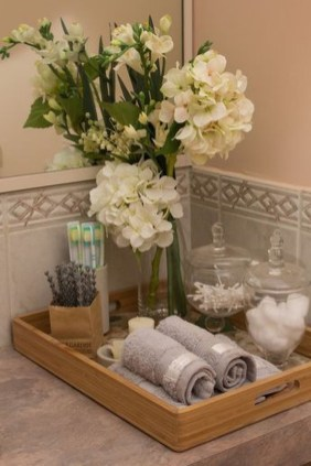 Inspiring Bathroom Decoration Ideas With Wooden Storage 09