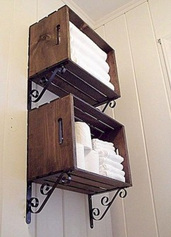Inspiring Bathroom Decoration Ideas With Wooden Storage 12