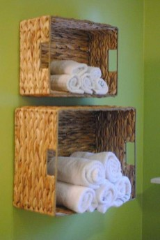 Inspiring Bathroom Decoration Ideas With Wooden Storage 41