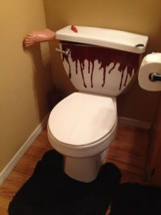 Scary Halloween Decorating Ideas For Your Bathroom 23
