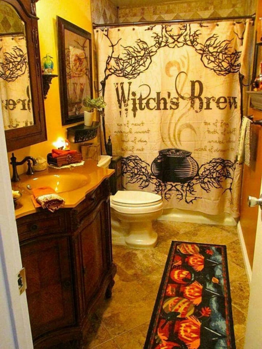 30 Scary Halloween Decorating Ideas For Your Bathroom