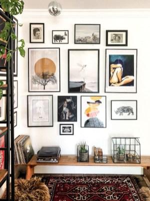 Trendy Living Room Wall Gallery Design Ideas 34