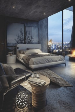 Modern Style For Industrial Bedroom Design Ideas 09
