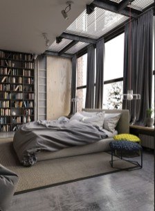 Modern Style For Industrial Bedroom Design Ideas 37