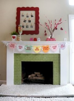 Best Valentines Day Mantel Decor Ideas That You Will Falling In Love With 11